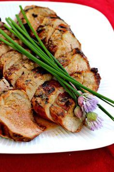 Grilled Ginger Honey Pork Tenderloin: Asian inspired flavors make this pork shine! #pork #leanmeat