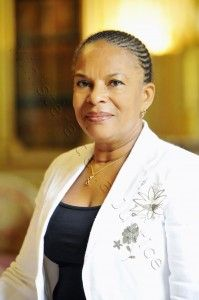 Christiane Taubira or Christiane Taubira-Delannon is a French politician who on 15 May 2012, was appointed Minister of Justice of France in the new Ayrault Government under President François Hollande. She resigned from office on January 27, 2016.