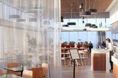 ISM Drum Pendants feature in Grain of Silos Restaurant, Peppers Resort, Tasmania Community Space, Bar Areas, Grand Hotel, Restaurant Bar, Kitchen Dining, Architecture, Interior, Folding Screens, Furniture