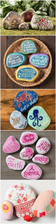 Promote random acts of kindness with beautiful painted rocks! Get inspired by these 10 projects. How will you decorate your rocks to be found? via @modpodgerocks
