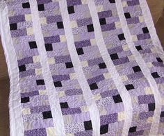 Zipper quilt - single bed size - cotton - polyester filler