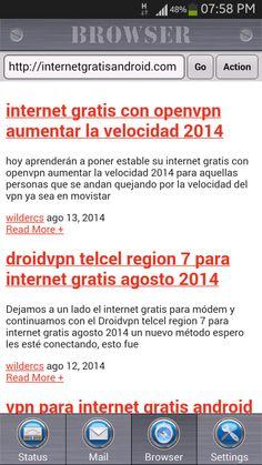 internet gratis 3g android 2014 España, México, Perú