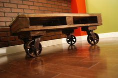 XXX - Pallet Coffee Tables. $400.00, via Etsy. + crazy $400 shipping from Canada