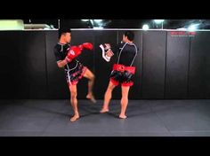 Muay Thai - Low Kick, Straight Left K.O. Fight Breakdown | Evolve University - YouTube