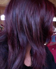 """Manic Panic """"Rock-It-Red"""" Vegan semi-permanent hair dye on unbleached dark brown hair. (color can be found on manicpanic. Permanent Purple Hair Dye, Dyed Hair Purple, Dyed Hair Pastel, Red Brown Hair, Dark Hair, Dark Brown, Burgundy Hair, Red Hair Color, Hair Colors"""