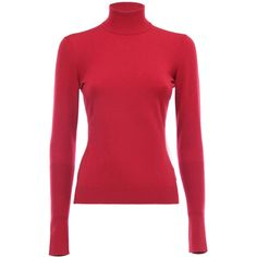 ALAIA turtle neck sweater with maxi cuffs ❤ liked on Polyvore featuring tops, sweaters, red turtleneck, red sweater, red turtleneck sweater, turtle neck top and red top