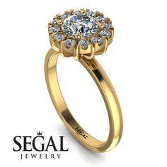 Vintage Halo Diamond Engagement Ring - Presley No. Unique Diamond Rings, Diamond Wedding Rings, Unique Rings, Lotus Engagement Ring, Engagement Gifts, Edwardian Ring, Diamond Anniversary Rings, Proposal Ring, Diamond Sizes