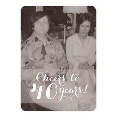 Shop anniversary invitation created by jzdesign. Anniversary Invitations, 40th Anniversary, Anniversary Parties, Custom Invitations, Wedding Color Schemes, Wedding Colors, Wedding Menu, Envelope Liners