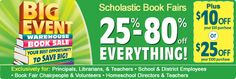 Scholastic Warehouse Sale  May 4 - May 17