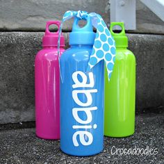 Personalized Water Bottle via Etsy