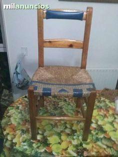 . silla rustica decorada madera maciza, ver fotos, pincha mi telefono en buscar y veras muchas cosas mas, solo atiendo opor las tardes. gracias