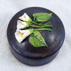 Ceramic Calla Lily Keepsake Box by GrapeVineCeramicsGft on Etsy