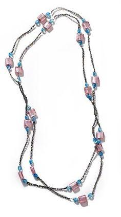 Elegant Beaded Necklace Pattern (Crochet)
