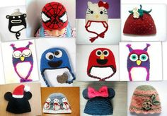SALE 15 Toddler Hats CROCHET PATTERN Hello Kitty by PatternStudio1, $7.99