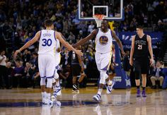 The Golden State Warriors—reigning NBA champs—take the court like phantoms, diving for loose balls and swishing pull-up jumpers