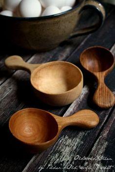 28 Delicate Beautiful Wooden Kitchen Utensils