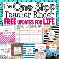 """My teacher binder helps me stay organized all year. Here are five of my favorite tips and ideas for putting together the best teacher binder."" Teacher Plan Books, Teacher Planner, Teacher Binder, Teacher Organization, Teacher Hacks, Teacher Stuff, Teaching Time, Teaching Activities, Student Teaching"