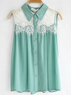 sheer top in tiffany blue