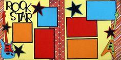 Do It Yourself Scrapbook PageKit. Scrapbook Frames, Kids Scrapbook, Scrapbooking Layouts, Kindergarten Rocks, Scrapbooks, Paper Crafts, Symbols, Stars, Handmade Gifts