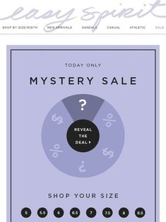 mystery sale email layout