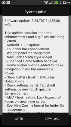 HTC One Android 4.2.2 Update Finally Available in India - Tech Junction