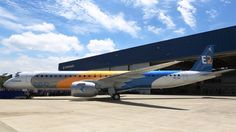 Unlike the Embraer E190-E2, which was rolled out in a major international event, the first E195-E2 rollout was a reward to Embraer employees for the development of an aircraft, powered by the Pratt & Whitney PW1900 engine.