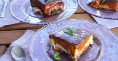 Dessert with Caramel Frosting, Dessert with Caramel Frosting Recipes, Butterscotch Sauce Recipe Semolina Cake, Greek Sweets, Caramel Frosting, Yogurt Cake, Cake Recipes, Frosting Recipes, Spinach And Feta, My Dessert, How Sweet Eats