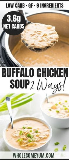 Low Carb Buffalo Chicken Soup Recipe - Instant Pot Pressure Cooker