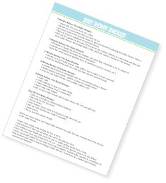 Free printable baby shower checklist! #babyshowerchecklist