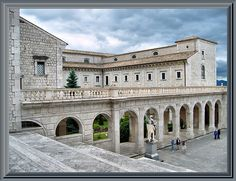 Mood: accomplished. Around 529, I left for Monte Cassino to establish a monastery. On the hilltop I destroyed the pagan temple dedicated to Apollo and built the monastery. It was at Monte Cassino that I completed my Rules that have since been the source of guidance for Benedictine monasteries
