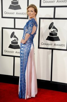 Best Jazz Vocal Album nominee Tierney Sutton arrives at the 56th Annual GRAMMY Awards on Jan. 26 in Los Angeles