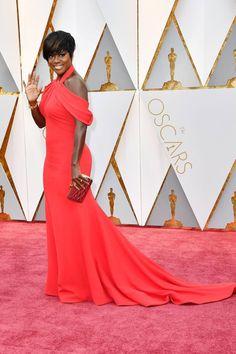Oscar 2017: Viola Davis, nominada a Mejor Actriz Secundaria por 'Fences', en la alfombra roja