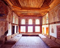 "The ""Oda e Burimit"" (men's room) where guests were received and ceremonies held. Peek inside on our trip to Gjirokastra."