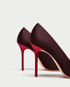 a28f3a316b6 SATIN COURT SHOES WITH CONTRASTING HEELS-View all-SHOES-WOMAN