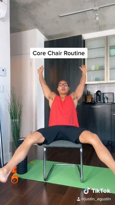 Core Exercises For Beginners, Workout For Beginners, Beginner Core Workout, Best Workout Plan, Fitness Workout For Women, Sport Fitness, Senior Fitness, Low Impact Workout, Workout Videos
