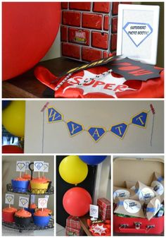 Create Your Own Superhero Birthday Party (on a budget) from poofycheeks.com