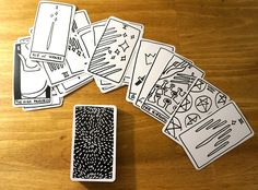 Contemporary Minimal style Tarot Deck by ShopWitchShop on Etsy