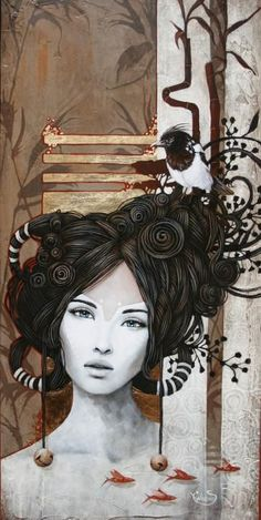 brown and white/ivory Sophie Wilkins