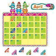 T-8416 Sock Monkeys Calendar Bulletin Board Set