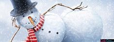 Sexy Snowman Winter or Holiday Facebook Cover