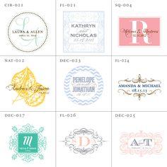 Wedding Logo Design, Wedding Monogram Digital File - monogram bottom right - square/one initial/no date/rounded inside corners Wedding Logo Design, Wedding Logos, Monogram Wedding, Wedding Monograms, Wedding Invitations, Wedding Initials, Invites, Monogram Design, Monogram Styles