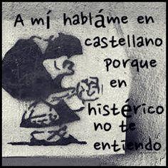 """Jajajaja !!!.....ahora si que """"Dímelo en español"""".....me encanto !!! : ) #spanish"""