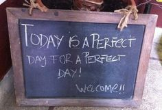 Perfect day for a perfect day