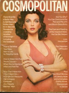 Cosmopolitan magazine, NOVEMBER 1973  Model: Pat Herron Photographer: Francesco Scavullo