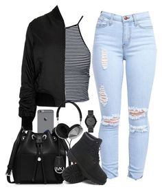 """☁"" by justice-ellis ❤ liked on Polyvore featuring Estradeur, Topshop, MICHAEL Michael Kors, Timberland, Frends and Michael Kors"