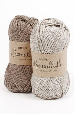 Ett naturligt och rustikt garn spunnet av flera trådar lin och bomull som kombinerar den fasta strukturen av linet med den mjuka bomullen för att skapa ett...