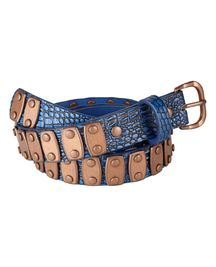 Belt with copper metal plate
