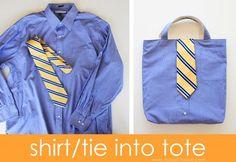 Como hacer un bolso con una camisa reciclada (1)