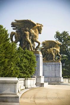 "Memorial Bridge Statues Washington DC  ""The Arts of Peace"""