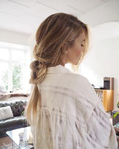 low pony loose braid